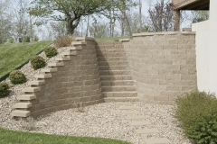 Residential, Landscape Retaining Wall, Stairs